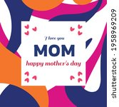 mother's day poster or banner... | Shutterstock .eps vector #1958969209