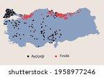 turkey economic geography map   | Shutterstock .eps vector #1958977246