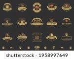 sushi restaurant logos and... | Shutterstock .eps vector #1958997649