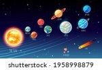 solar system cartoon planets... | Shutterstock .eps vector #1958998879