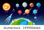 solar system planets big set... | Shutterstock .eps vector #1959006463