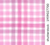 pink rose watercolor checkered...