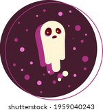 color illustration of a ghost.... | Shutterstock .eps vector #1959040243