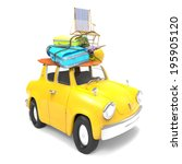 travel car | Shutterstock . vector #195905120