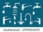 plumbing set of white isolated... | Shutterstock . vector #1959053470