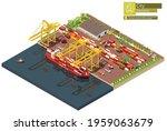 vector isometric industrial... | Shutterstock .eps vector #1959063679