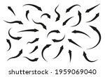 black arrows icons set. flat...   Shutterstock .eps vector #1959069040