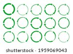 green silhouette round recycle...   Shutterstock .eps vector #1959069043