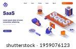 saas isometric landing page.... | Shutterstock .eps vector #1959076123
