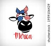 saying 'merica  heifer with... | Shutterstock .eps vector #1959106429