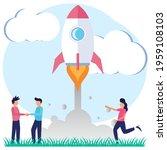 vector illustration of startup...   Shutterstock .eps vector #1959108103