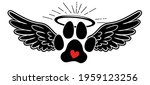 my angel has paws   hand drawn... | Shutterstock .eps vector #1959123256