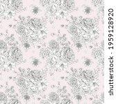 gentle roses vintage floral...   Shutterstock . vector #1959128920