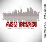abu dhabi united arab emirates... | Shutterstock .eps vector #195913808