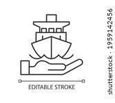 marine insurance linear icon.... | Shutterstock .eps vector #1959142456