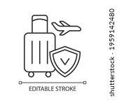travel insurance linear icon.... | Shutterstock .eps vector #1959142480