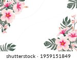 floral background with hibiscus ...   Shutterstock .eps vector #1959151849