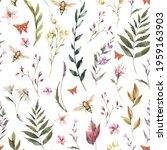 watercolor vintage floral...   Shutterstock . vector #1959163903