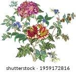 romantic floral vector pattern...   Shutterstock .eps vector #1959172816