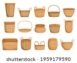 empty wicker basket cartoon...   Shutterstock .eps vector #1959179590