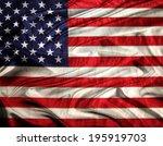 american flag | Shutterstock . vector #195919703