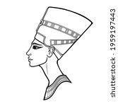 animation linear portrait of... | Shutterstock .eps vector #1959197443