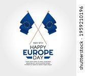 vector graphic of happy europe... | Shutterstock .eps vector #1959210196