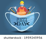 mask with happy labor day... | Shutterstock .eps vector #1959245956