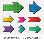 vector colorful arrows in pop... | Shutterstock .eps vector #1959248050