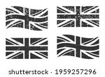 united kingdom grunge flag set  ...