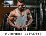 portrait of a physically fit... | Shutterstock . vector #195927569