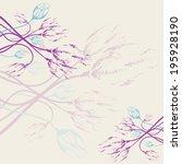 pastel floral frame. template...   Shutterstock . vector #195928190