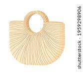 straw wicker beach bag isolated ... | Shutterstock .eps vector #1959298906