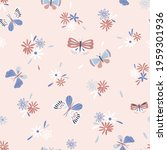 whimsy decorative butterfly... | Shutterstock .eps vector #1959301936