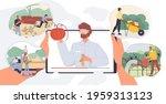 set of vector cartoon flat...   Shutterstock .eps vector #1959313123