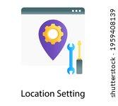 gear inside location pin ...   Shutterstock .eps vector #1959408139