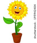 Sunflower Cartoon