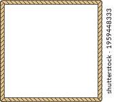 rope frame   square design   Shutterstock .eps vector #1959448333