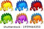 a stegosaurus dinosaur cartoon... | Shutterstock .eps vector #1959464353