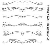 set of vintage vector dividers  ... | Shutterstock .eps vector #195950618