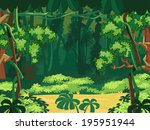 forest glade. beautiful... | Shutterstock .eps vector #195951944