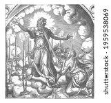 the apostle john has a vision... | Shutterstock . vector #1959538069