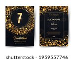 7th years birthday vector black ...   Shutterstock .eps vector #1959557746