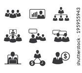 icon business office | Shutterstock .eps vector #195955943