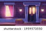 house facade with door and...   Shutterstock .eps vector #1959573550
