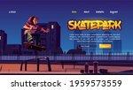 Skatepark Cartoon Landing Page...