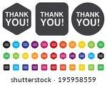 thank you button | Shutterstock . vector #195958559