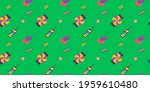 different sweets icons pattern...   Shutterstock . vector #1959610480