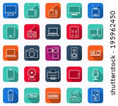 electronic flat square vector... | Shutterstock .eps vector #195962450