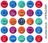 electronic flat round vector... | Shutterstock .eps vector #195962489